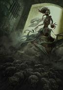 Gwent cardart monsters plague maiden