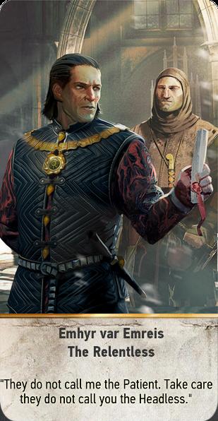 Emhyr var Emreis: The Relentless (gwent card)