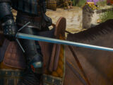 Witcher's silver sword