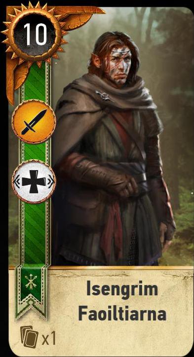 Isengrim Faoiltiarna (gwent card)