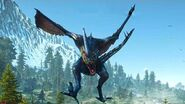 The Witcher 3 Dragon the Forktail Boss Fight (Hard Mode)