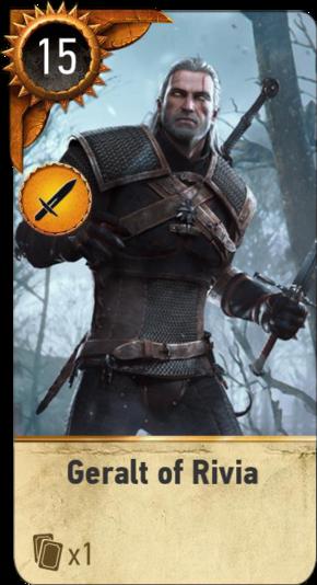 Geralt of Rivia (gwent card)