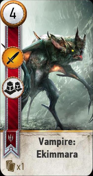 Vampire: Ekimmara (gwent card)