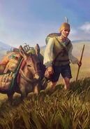 Gwent cardart neutral traveling merchant