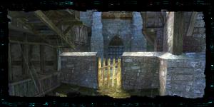 Brána na hřbitov do Kupecká čtvrť