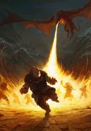 Gwent cardart monsters keltullis fire breath