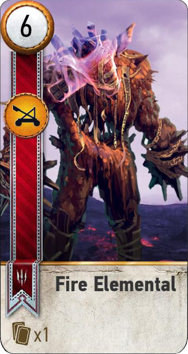 Fire Elemental (gwent card)