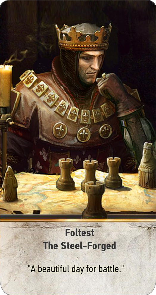 Foltest: The Steel-Forged (gwent card)