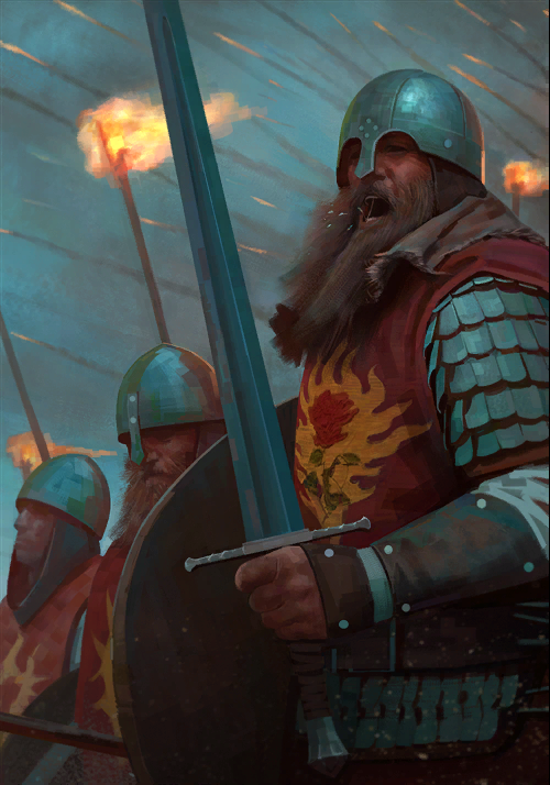 Gwent cardart northern footmen of the flaming rose.png
