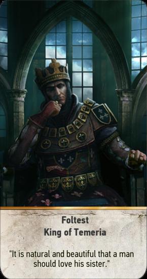 Foltest: King of Temeria (gwent card)