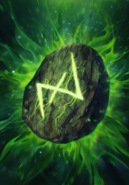 Gwent cardart scoiatael runestone morana