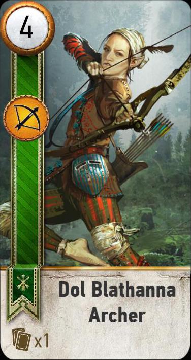 Dol Blathanna Archer (gwent card)