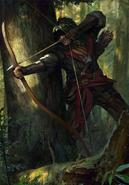 Gwent cardart scoiatael elven deadeye
