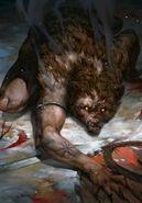 Gwent cardart skellige bear abomination