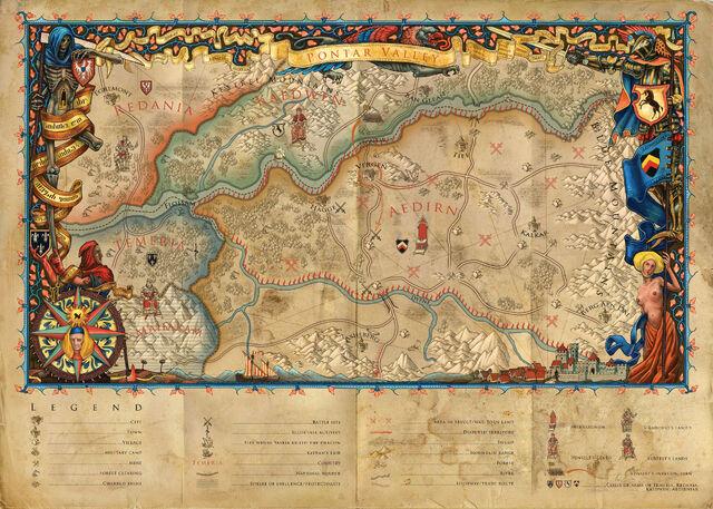 Carte de la vallée du Pontar