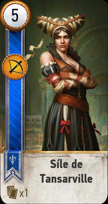 Síle de Tansarville (gwent card)