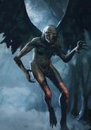 Tw3 cardart monsters harpy