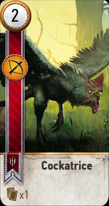 Cockatrice (gwent card)