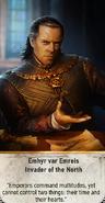 Tw3 gwent card face Emhyr var Emreis Invader of the North