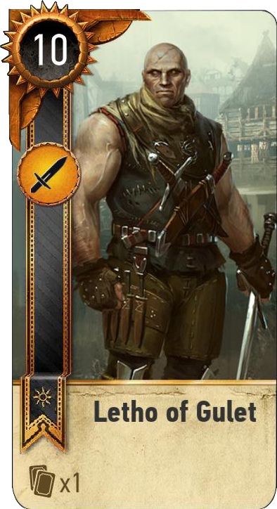 Letho of Gulet (gwent card)