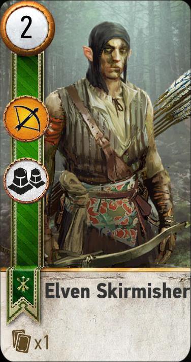 Elven Skirmisher (gwent card)