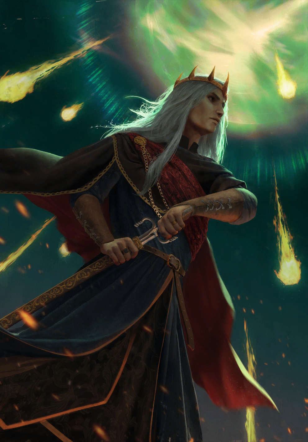 Gwent cardart monsters auberon king.png