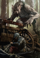 Gwent cardart monsters werewolf