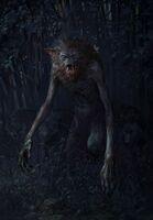 Gwent cardart monsters alpha werewolf
