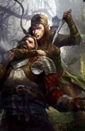 Gwent cardart scoiatael elven mercenary