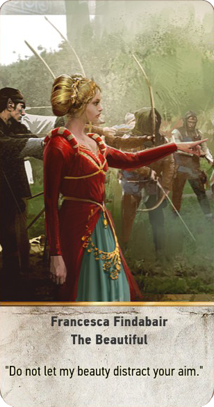 Francesca Findabair: The Beautiful (gwent card)