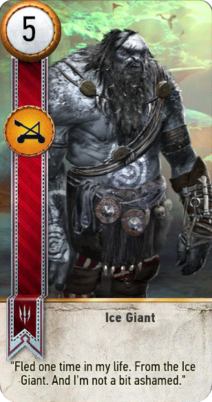 Ice Giant (gwent card)