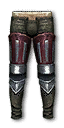 Lyrian hardened leather trousers