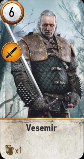 Vesemir (gwent card)