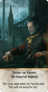 Tw3 gwent card face Emhyr var Emreis His Imperial Majesty