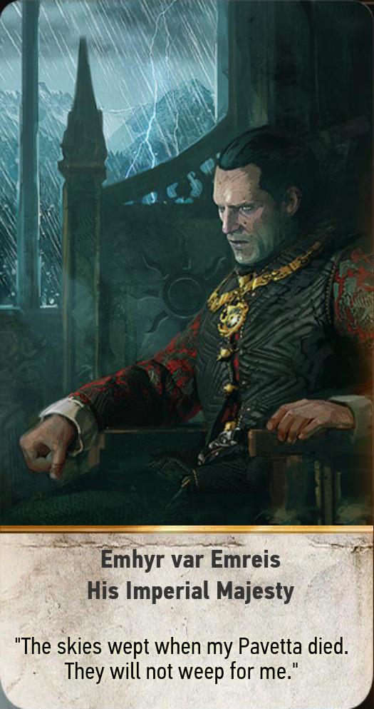 Emhyr var Emreis: His Imperial Majesty (gwent card)