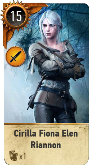 Cirilla Fiona Elen Riannon (gwent card)