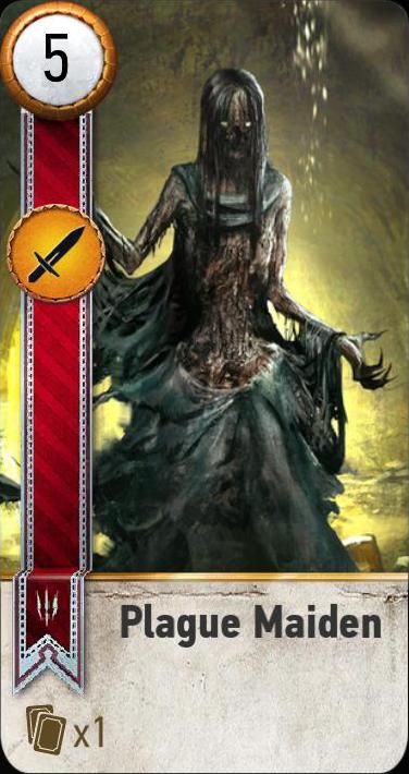 Plague Maiden (gwent card)