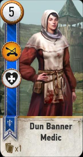 Dun Banner Medic (gwent card)
