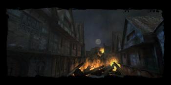 Temple Quarter burning