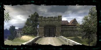 Merchants' Gate, seen from the Outskirts