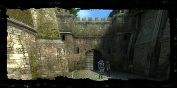 Merchants' Gate, seen from the Trade Quarter
