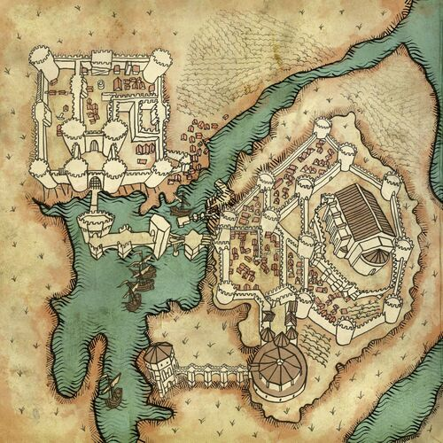 Map of La Valette Castle and surroundings
