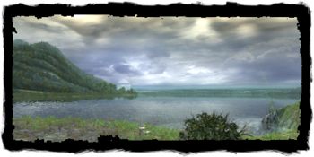 Lake Vizima seen from the Old Manor