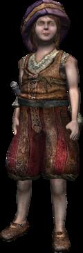 the resolute boy, Raymond's messenger