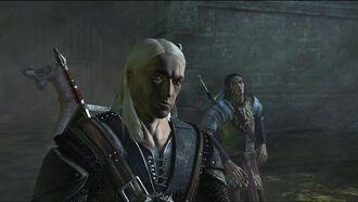 Γκέραλτ and Yaevinn in the zeugl's lair