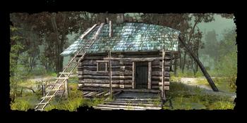 Gramps' hut