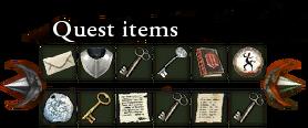 Quest items pocket