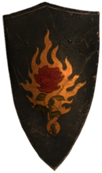 a steel Order shield