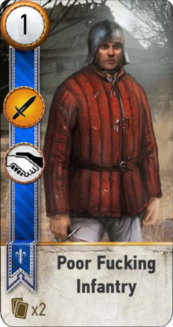 Tw3 gwent card face Poor Fucking Infantry.png