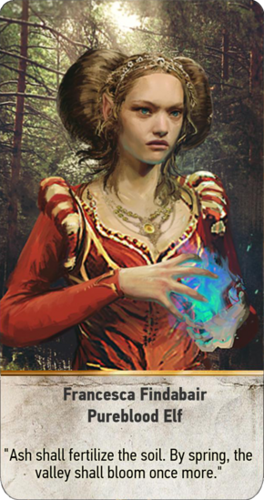 Tw3 gwent card face Francesca Findabair Pureblood Elf.png